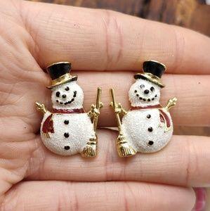 NWT Vintage Christmas holiday snowman winter santa